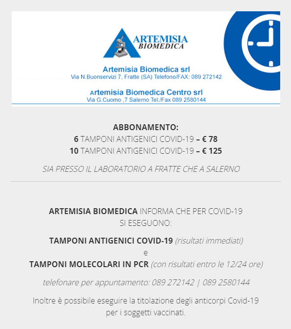 ABBONAMENTO TAMPONI ANTIGENICI COVID-19